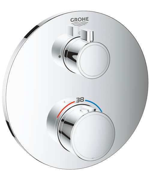 Grohe Grohtherm Thermostatic Mixer Valve For 1 Outlet With Shut Off Valve