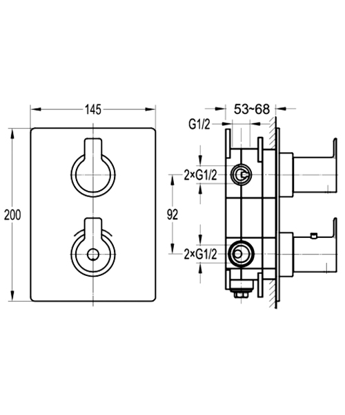Technical drawing 60385 / SR444TRIM