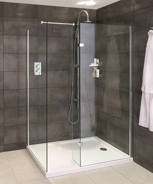 Aqata Spectra SP425 Walk-In Shower Enclosure For Corner