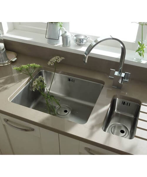 Additional image of Abode Matrix R25 0.5 Bowl Stainless Steel Kitchen Sink