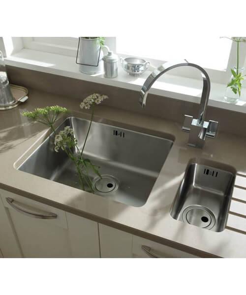 Additional image of Abode Matrix R25 0.5 Bowl Stainless Steel Kitchen Sink