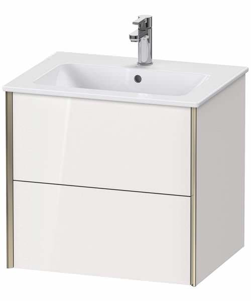 Duravit XViu 2 Drawer Wall-mounted Vanity Unit With ME By Starck Basin