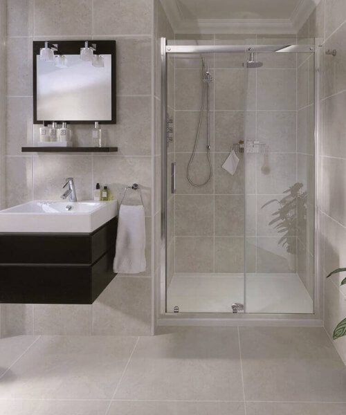 Aqata Spectra SP300 Recess Sliding Shower Door 2000mm Height