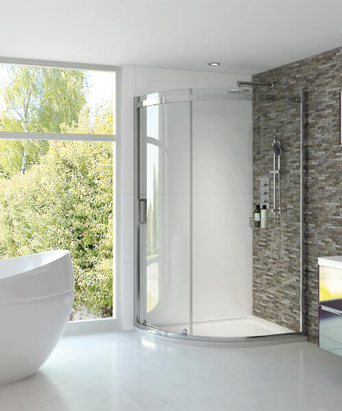 Aqata Spectra SP350 Sliding Door Quadrant Shower Enclosure 900 x 900mm