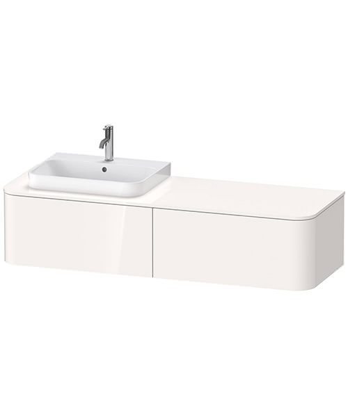 Duravit Happy D.2 Plus 1600 x 550mm Vanity Unit With 2 Pull-Out Compartment