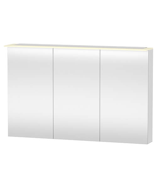 Duravit X-Large 1200 x 760mm 3 Door Mirror Cabinet With LED Lighting