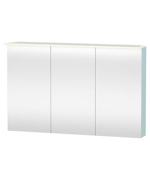 Additional image of Duravit X-Large 1200 x 760mm 3 Door Mirror Cabinet With LED Lighting