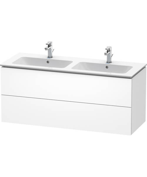 Duravit L-Cube 1290mm Wide 2 Drawers Wall Mounted Vanity Unit For Me By Starck Basin