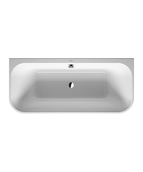 Duravit Happy D.2 Plus 1800 x 800mm Back-To-Wall Bath With Panel And Frame