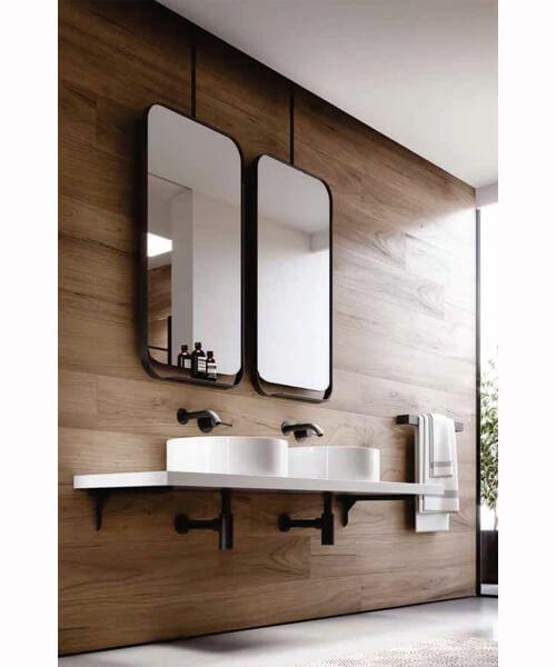 Saneux Volato 500 x 1000mm Matte Black Mirror