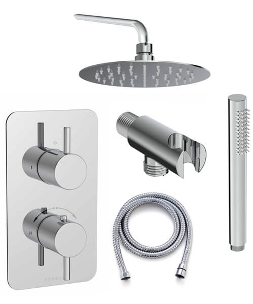 Saneux Cos 2 Outlet Thermostatic Valve With Shower Kit