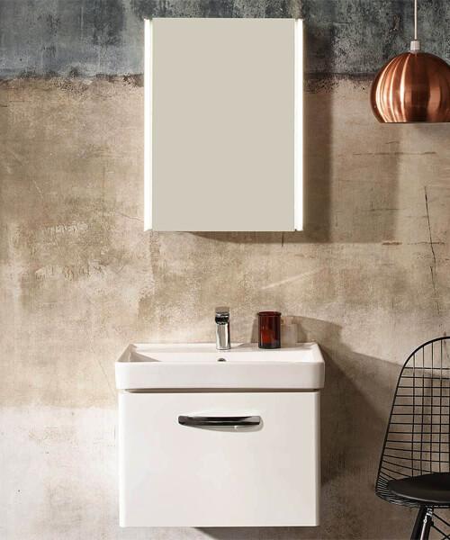 Tavistock Stride Single Door LED Illuminated 490 x 650mm Mirror Cabinet