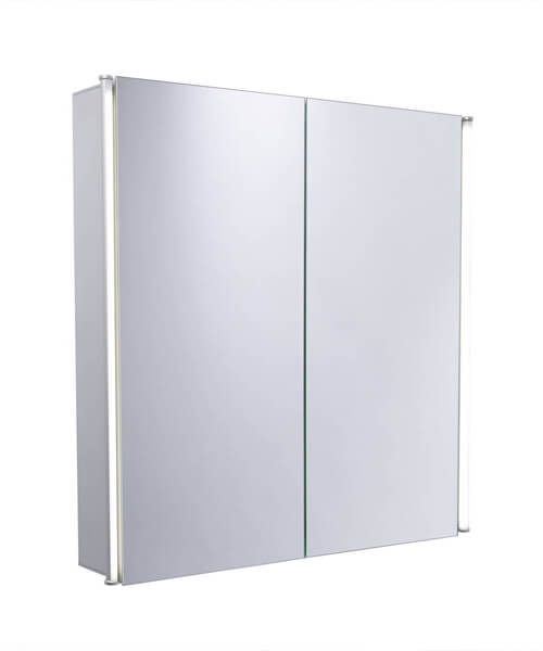 Additional image of Tavistock Stride 650 x 650mm Single Door LED Illuminated Mirror Cabinet