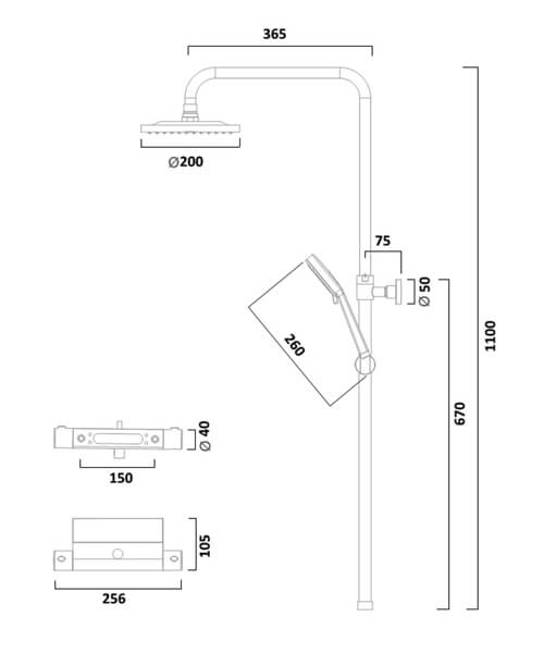 Technical drawing 62649 / SMT1509