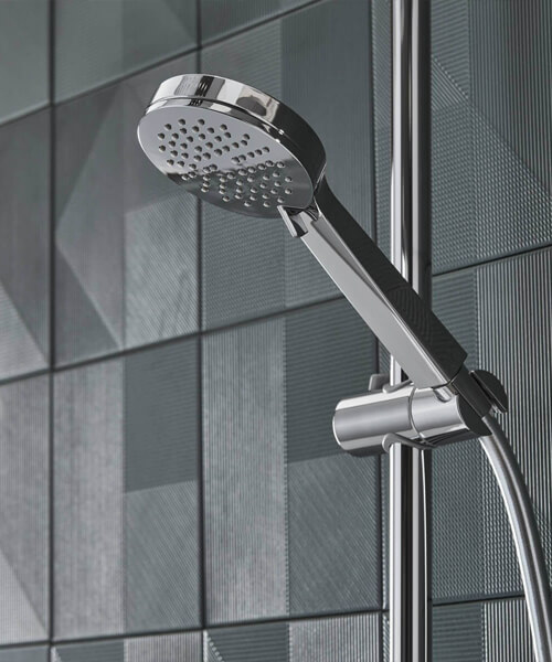 Additional image of Tavistock Quantum Cool Touch Thermostatic Dual Function Bar Valve With Handset