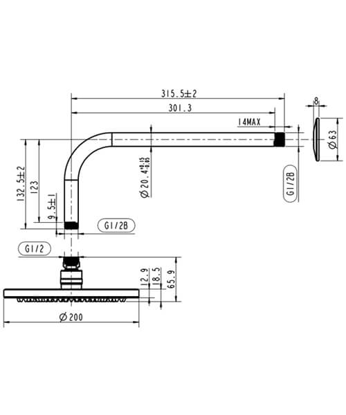 Technical drawing 63269 / HOX.012CP