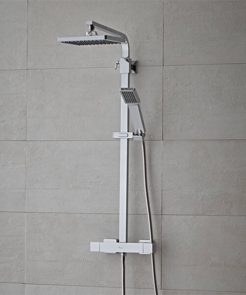 Additional image of Tavistock Zone Thermostatic Dual Function Shower System