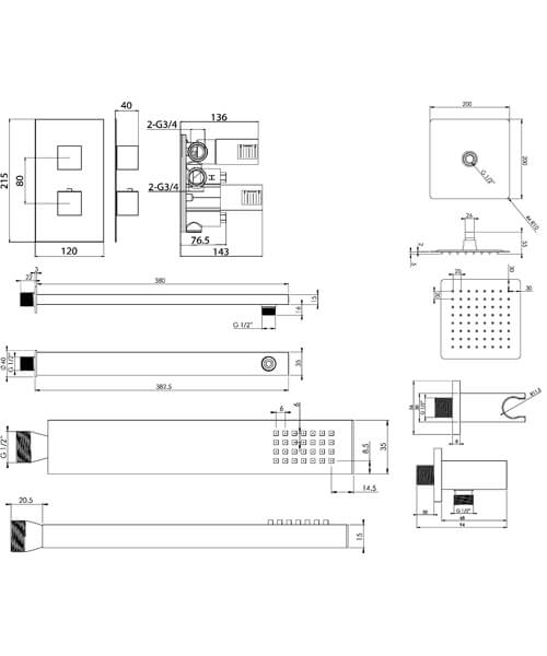 Technical drawing 63302 / TOSP01