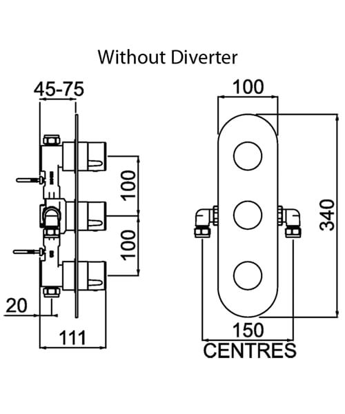 Technical drawing 54789 / EXD SHC3DIV C