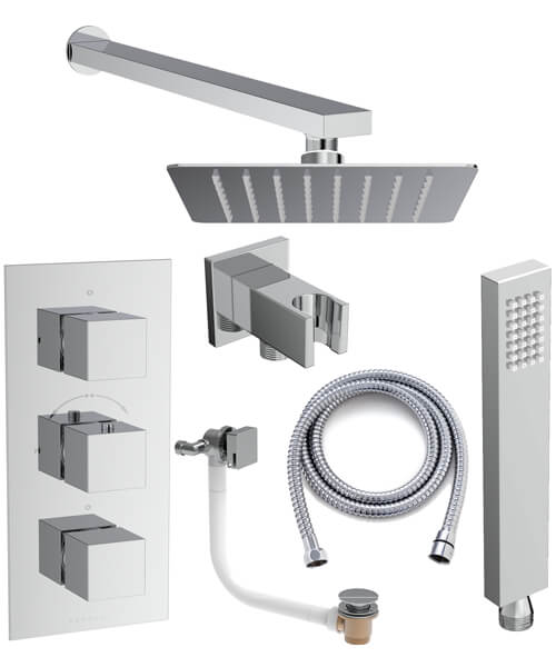 Saneux Tooga 3 Outlet Thermostatic Valve With Shower Kit