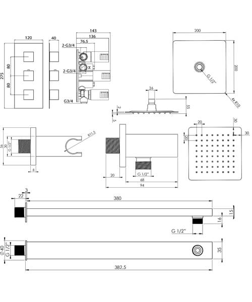 Technical drawing 63337 / TOSP04