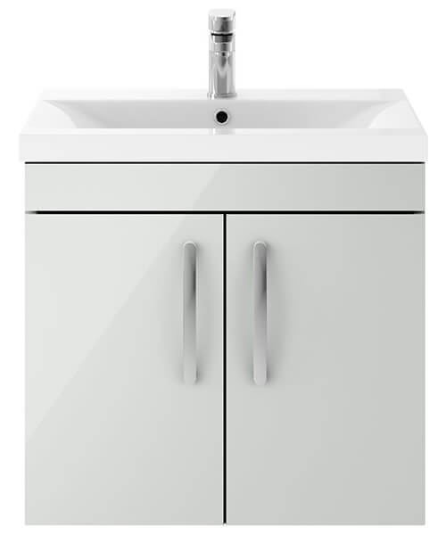 Alternate image of Nuie Premier Athena 600mm Wall Hung 2 Door Cabinet With Basin 2
