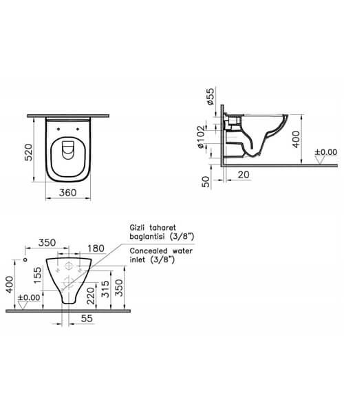 Technical drawing 64148 / 7507B003-0075