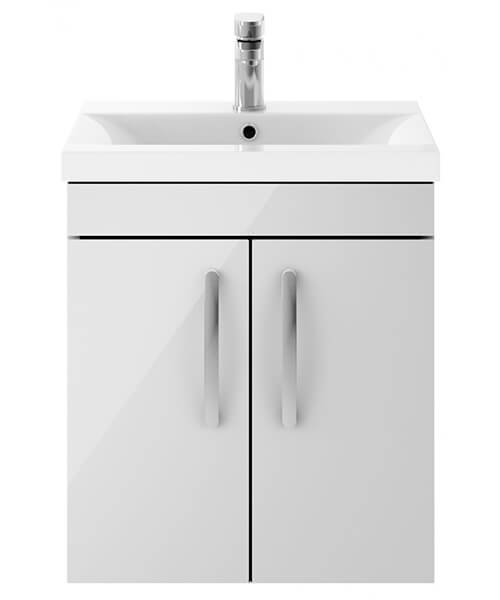 Alternate image of Nuie Premier Athena 500mm Wall Hung 2 Door Cabinet And Basin 1