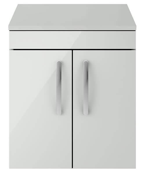 Alternate image of Nuie Premier Athena 500mm Wall Hung 2 Door Cabinet With Worktop