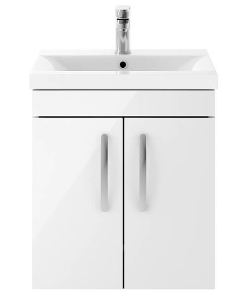 Nuie Premier Athena 2 Door Wall Hung Vanity Unit With Thin-Edge Basin