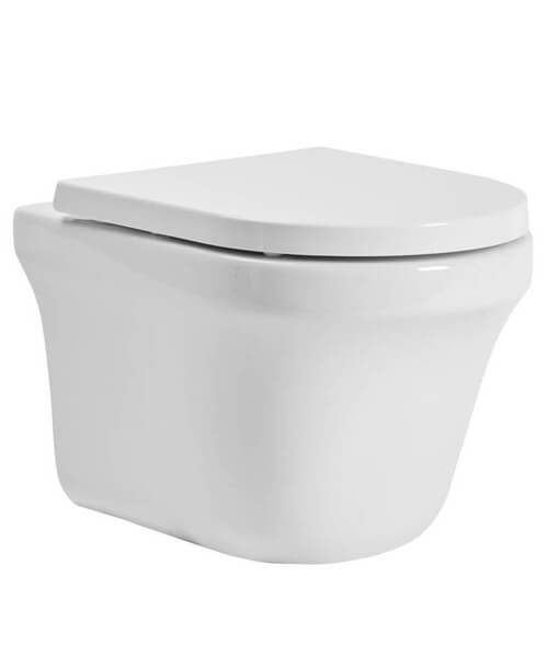 Tavistock Aerial Wall Hung Comfort Height WC Pan With Soft Close Seat