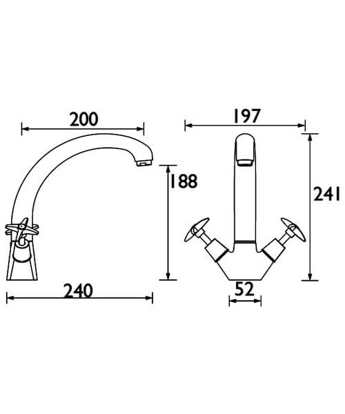 Technical drawing 3061 / VAX2 SNK C