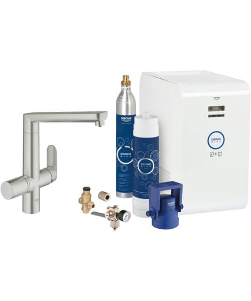 Alternate image of Grohe Blue Single Lever Kitchen Sink Mixer Tap With Starter Kit