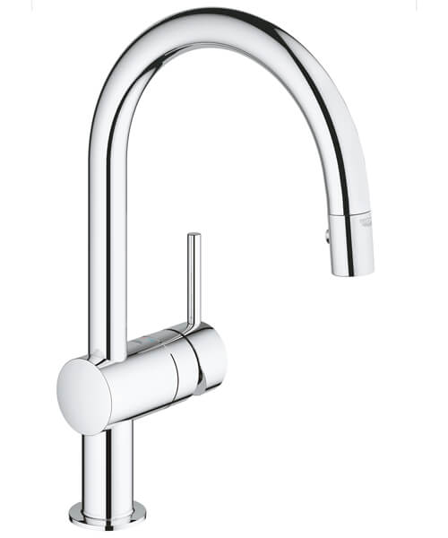 Grohe Minta Sink Mixer Tap With Extractable Pull Out Spray