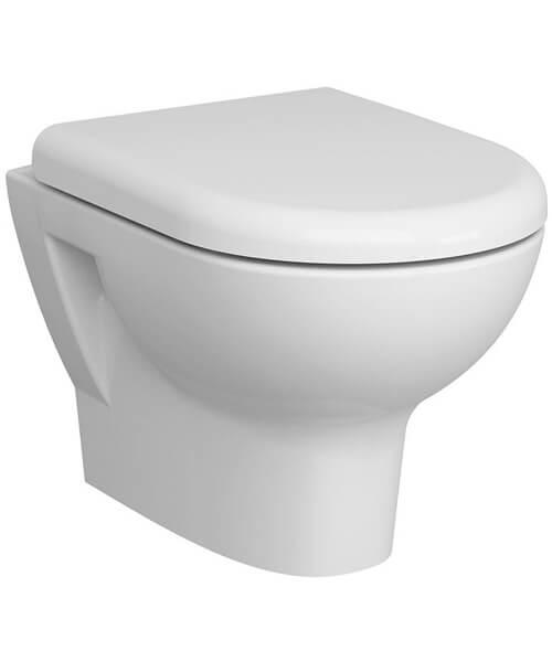 Vitra Zentrum Wall Hung Rim-Ex Ceramic WC Pan