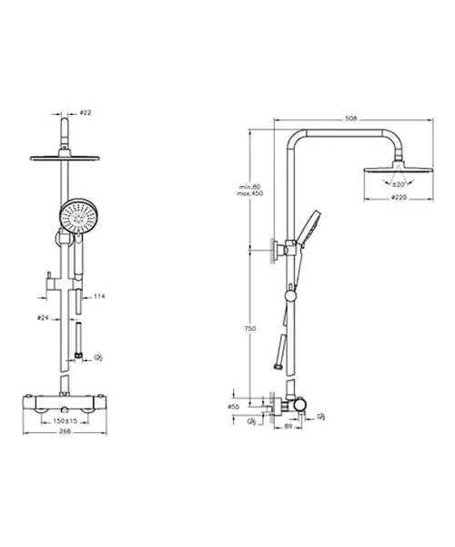 Technical drawing 64166 / A49252EXP