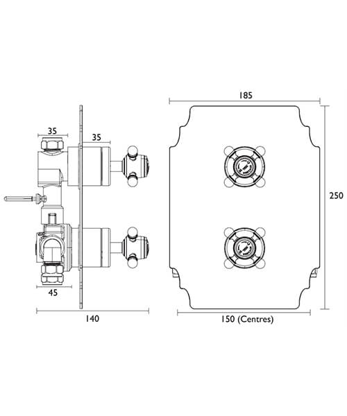 Technical drawing 49450 / SHDC02