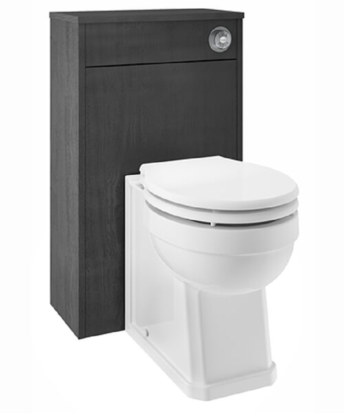 Additional image of Nuie Premier York Porcelain White Ash 500mm Back-To-Wall WC Furniture Unit