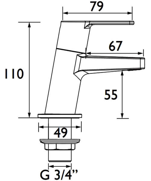 Technical drawing 54776 / PS2 3/4 C