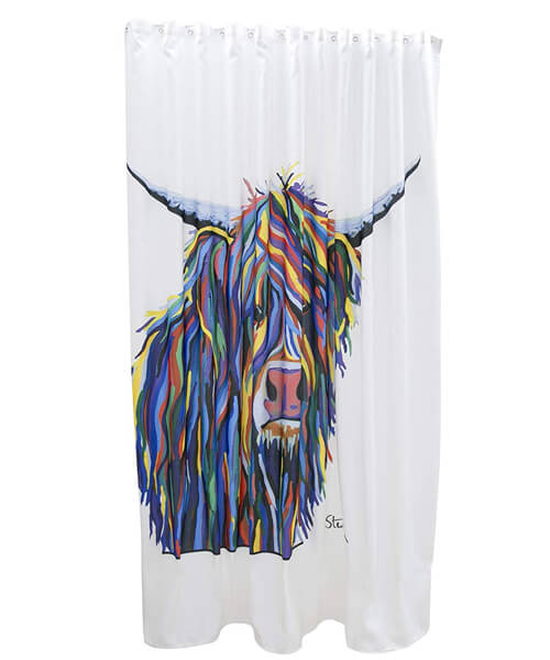 Alternate image of Croydex Angus McCoo Art By Steven Brown Shower Curtain