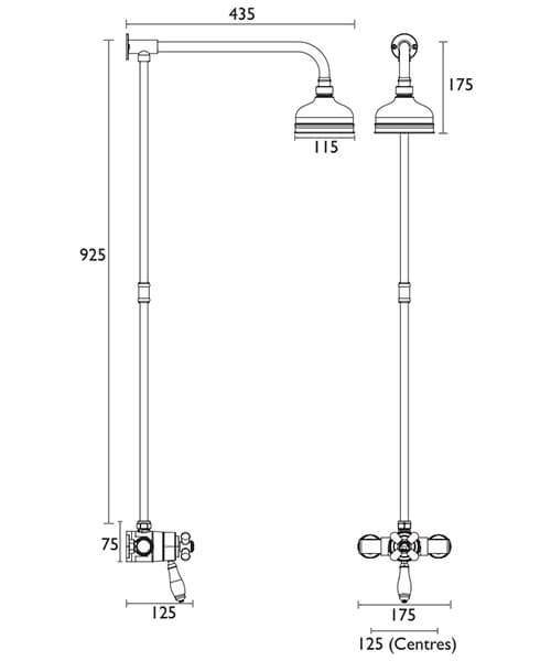Technical drawing 38091 / SLCDUALMIN01