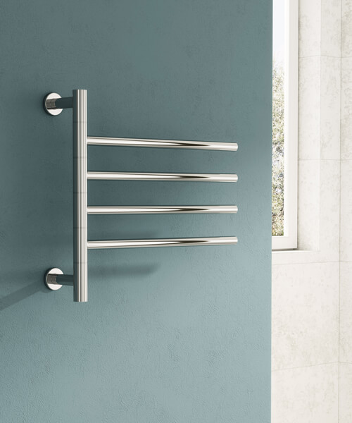 Alternate image of Reina Rance 500 x 475mm Dry Electric Stainless Steel Towel Rail