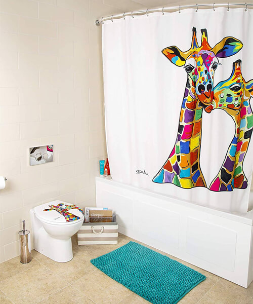 Croydex Francie & Josie McZoo Art By Steven Brown Shower Curtain