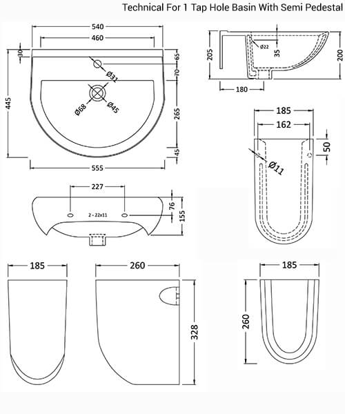 Technical drawing 20109 / CIV004