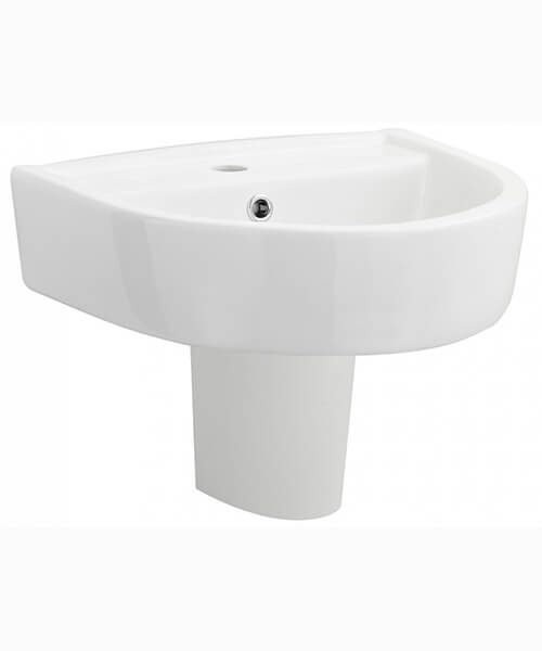 Nuie Premier Provost 1 Tap Hole Wall Mounted Basin
