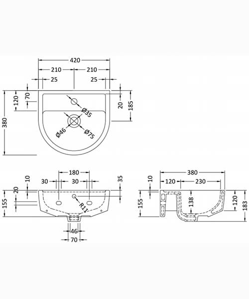 Technical drawing 22870 / NCH402