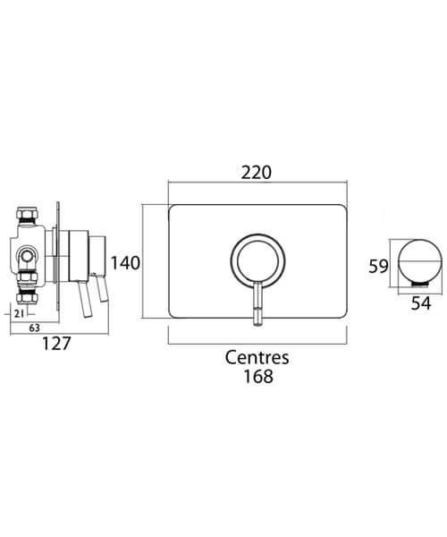 Technical drawing 51442 / PM2 CSHCVO C