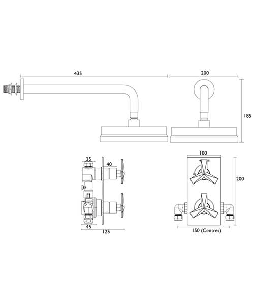 Technical drawing 40530 / SHPDUAL02