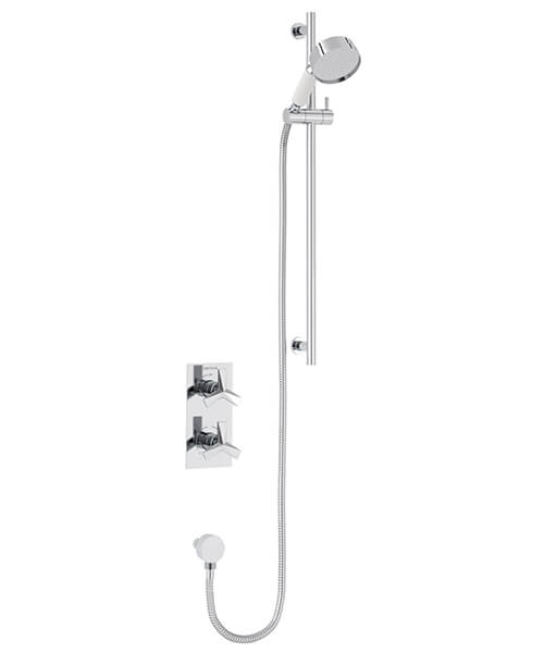 Heritage Hemsby Concealed Thermostatic Valve With Deluxe Flexible Kit Chrome