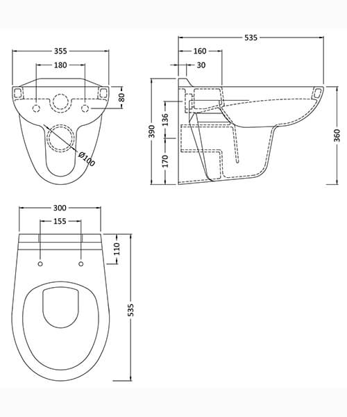 Technical drawing 59650 / NCS140